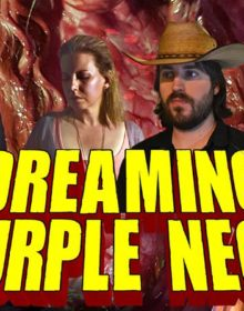 Todd Sheets' DREAMING PURPLE NEON is splatter with heart